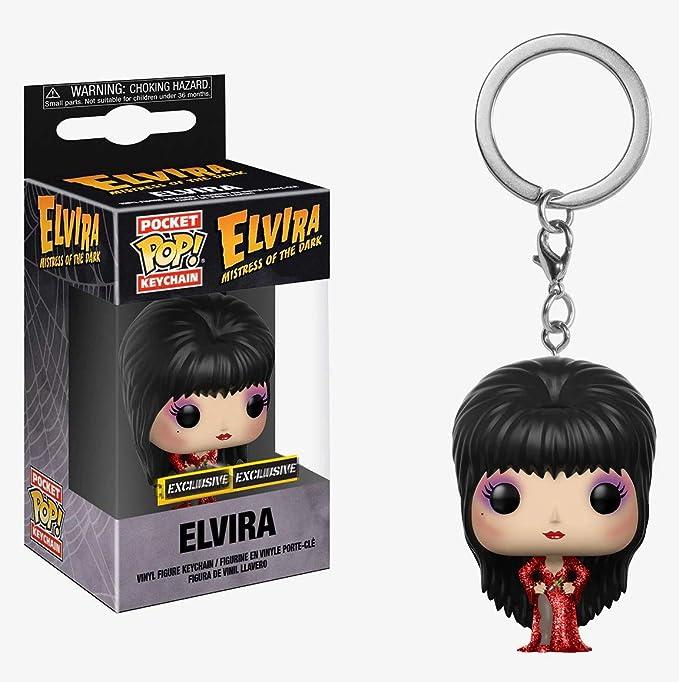 Amazon.com: Funko POP! Keychain - Elvira [Red Dress ...