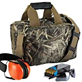 full size body targets - 13 inch RealTree MAX-5 camo pattern gun range bag