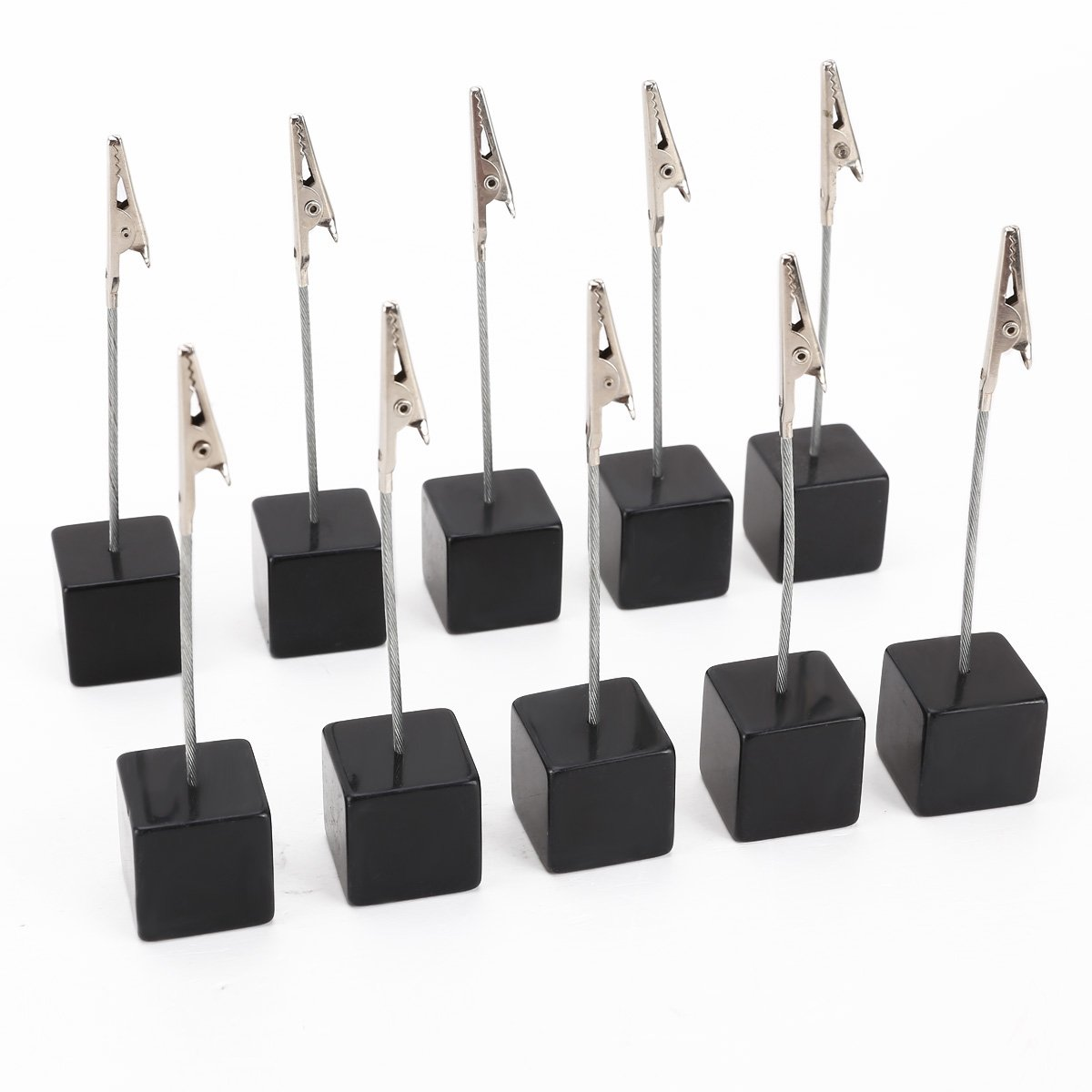 eBuyGB Dice Place Wedding Card Holders, Acrylic, Black, 2.5 cm 12127