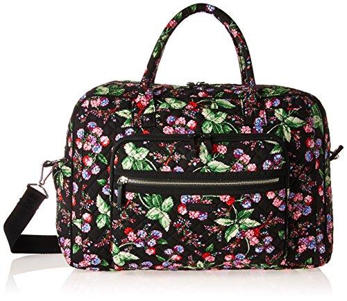 Vera Bradley Women's Iconic Weekender Travel Bag-Signature, Winter Berry