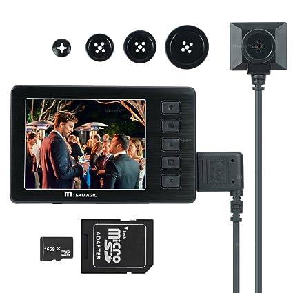 TEKMAGIC 16GB Cámara Espía 1920x1080P HD DV Videocámara Cámara de Videovigilancia Portátil con la Pantalla LCD