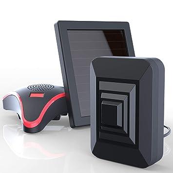 Htzsafe Sistema de alarma de entrada solar, funciona con ...