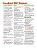 Microsoft PowerPoint 2007 Advanced Quick Reference Guide (Cheat Sheet of Instructions, Tips & Shortcuts - Laminated Card)