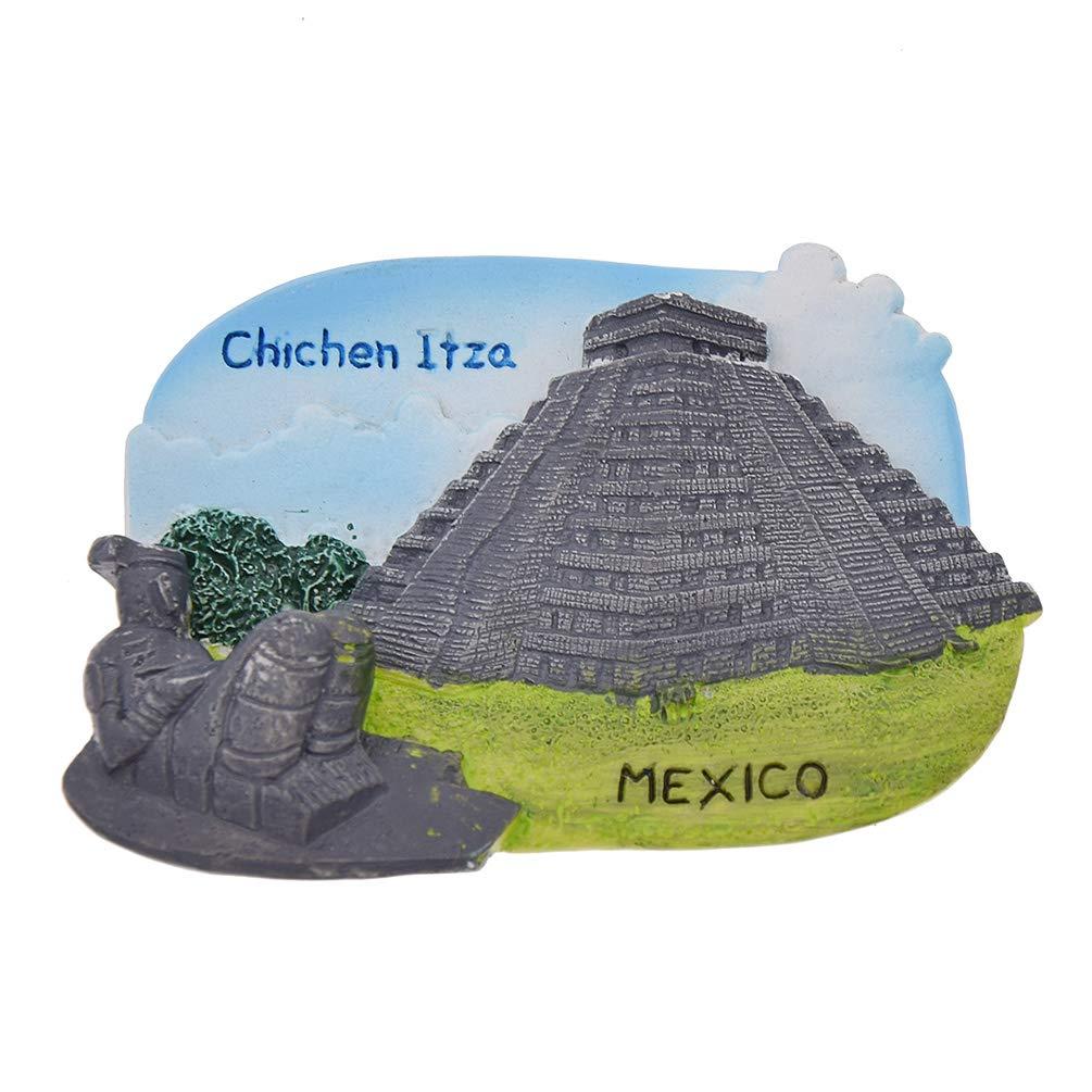 Hongma Aimant Réfrigérateur Chichen Itza Sticker Frigo Mexique