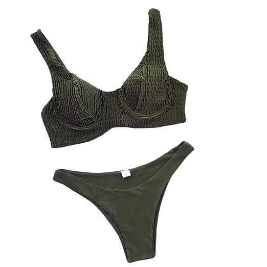 d8fc4b54d9 Amazon.com: HYIRI Crazy 2019 Red Beachwear Bikini Set,Women's Sexy Bikini  Set Push-Up Padded Swimwear Swimsuit: Clothing