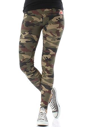 5edc2ee356523 ellesse Heritage Solos 2 Womens Ladies Fashion Legging Tight Camo - UK 8