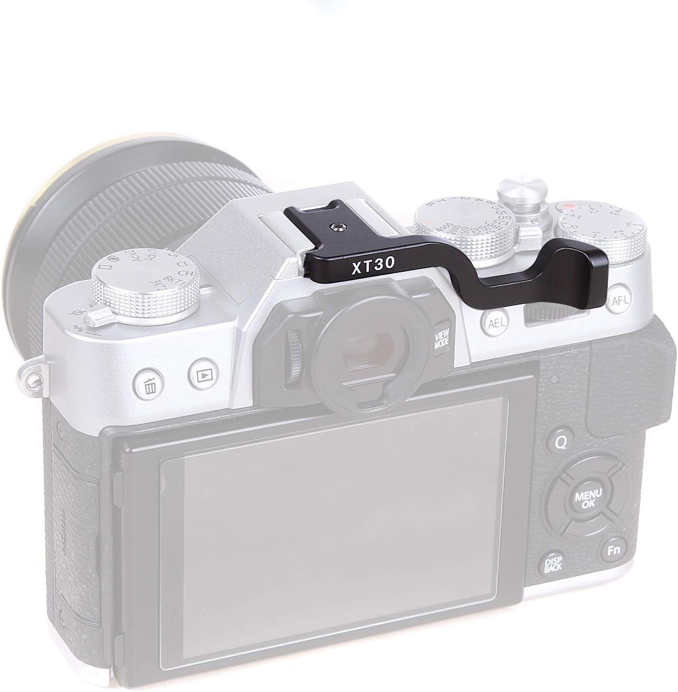 Foto4easy Metal Thumb Up Grip for Fujifilm Fuji XT30 Camera Black