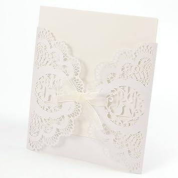 20 Stück. Einladung Einladungskarten Hochzeit Abendessen Weihnachten Vögel  Laser Cut Papier Leer Mit Umschlag