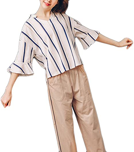 Frauen Cotton Short Pyjamas Sexy V-Ausschnitt Beschnitten