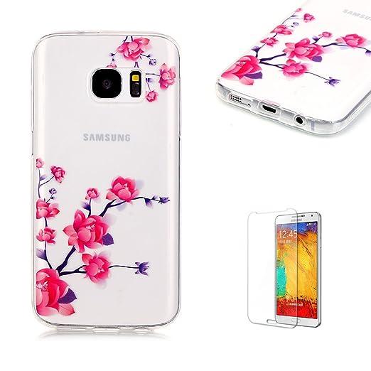 5 opinioni per Cover Per Samsung Galaxy S7 Silicone Custodia Morbida Trasparente con Disegno