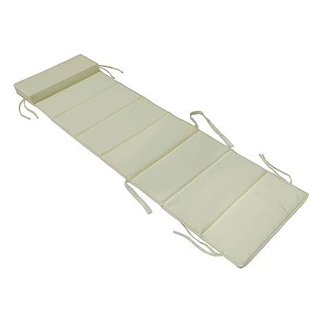 SoBuy® OGS28-P01,Cojín para tumbonas con almohada,170 x 50 ...
