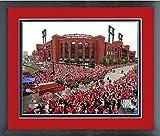 """Busch Stadium St. Louis Cardinals 2011 World Series Parade MLB Photo (Size: 13"""" x 16"""") Framed"""