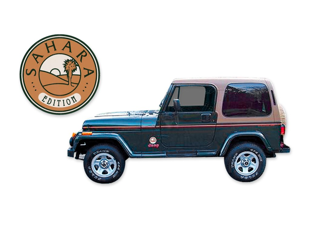 Charming Amazon.com: 1994 1995 Jeep Wrangler Sahara Edition YJ Decals U0026 Stripes Kit    GREEN: Automotive