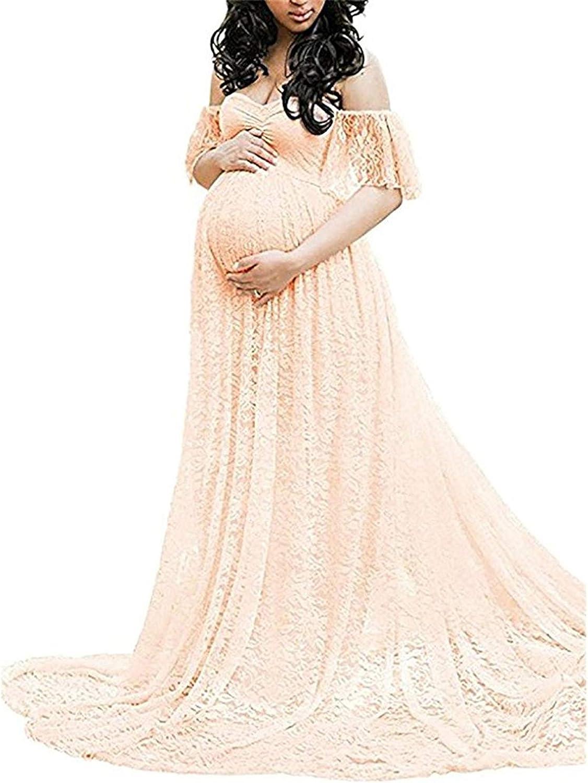 JIAJIA YL Frauen Schwangerschaftskleid, Damen Spitzenkleid ...