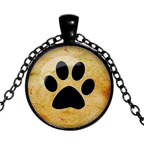 Unbekannt Collar con Colgante de Huellas de Animales, Perro & Gato