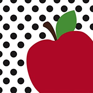 Teacher's Apple Paper Luncheon Napkin, Set of 20-7 x 1 x 7 Inches