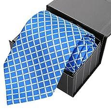 KissTies Extra Long Tie Striped Necktie For Men + Gift Box (63'' XL)