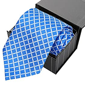 KissTies Extra Long Tie Striped Necktie For Men + Gift Box (63'' XL)