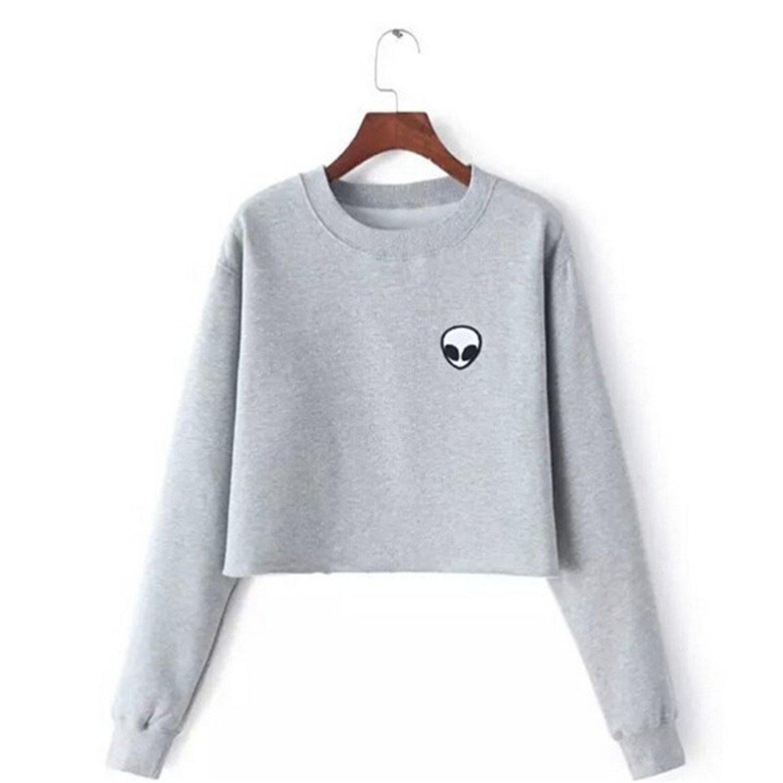 Desirca Hoodies Sweatshirts Harajuku Crew Neck Sweats Women Clothing Feminina Loose Short Fleece Jumper Sweats Warm