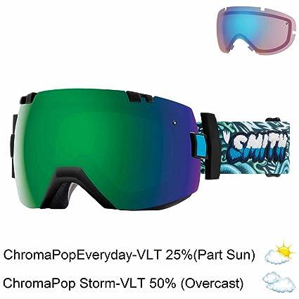 25f5d3c53e Smith Optics I Ox Adult Snow Goggles - Black Chromapop Everyday Green  Mirror