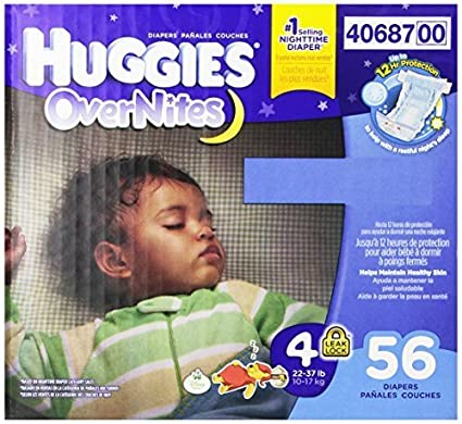 Huggies Overnites Diapers, Size 4, 56 Count by Huggies