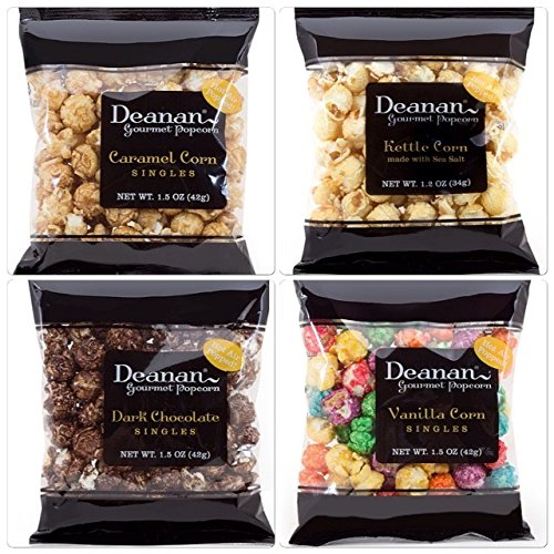 Deanan - 12 count box of Assorted Popcorn 'Sweet Singles' (1.2 & 1.5 oz each)