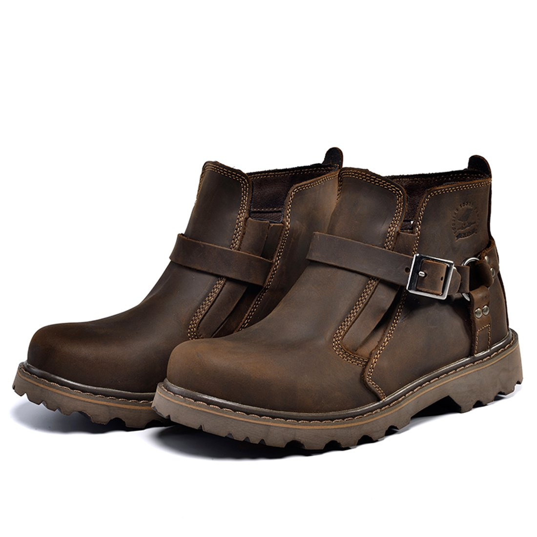 Z.SUO Men Women Unisex Couple Leather Two Wear Fashion Boot B06XTQV4QZ US M:9.5 Dark Brown