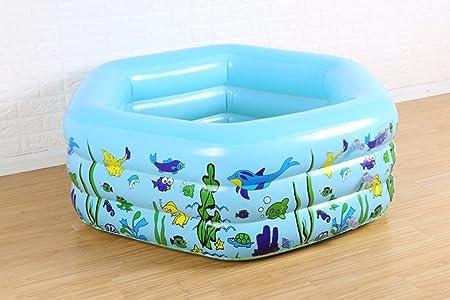 LYM & bañera Plegable Bebé Piscina Infantil niños océano Piscina ...