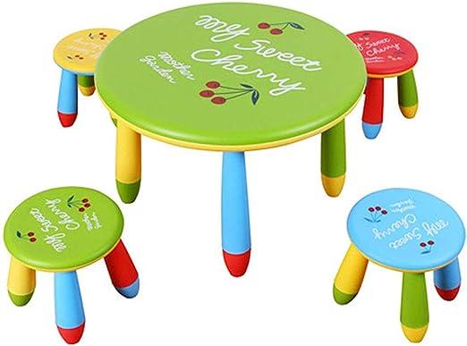 DAXIONG Juego de Mesa y sillas para niños, Mesa de Juegos de ...