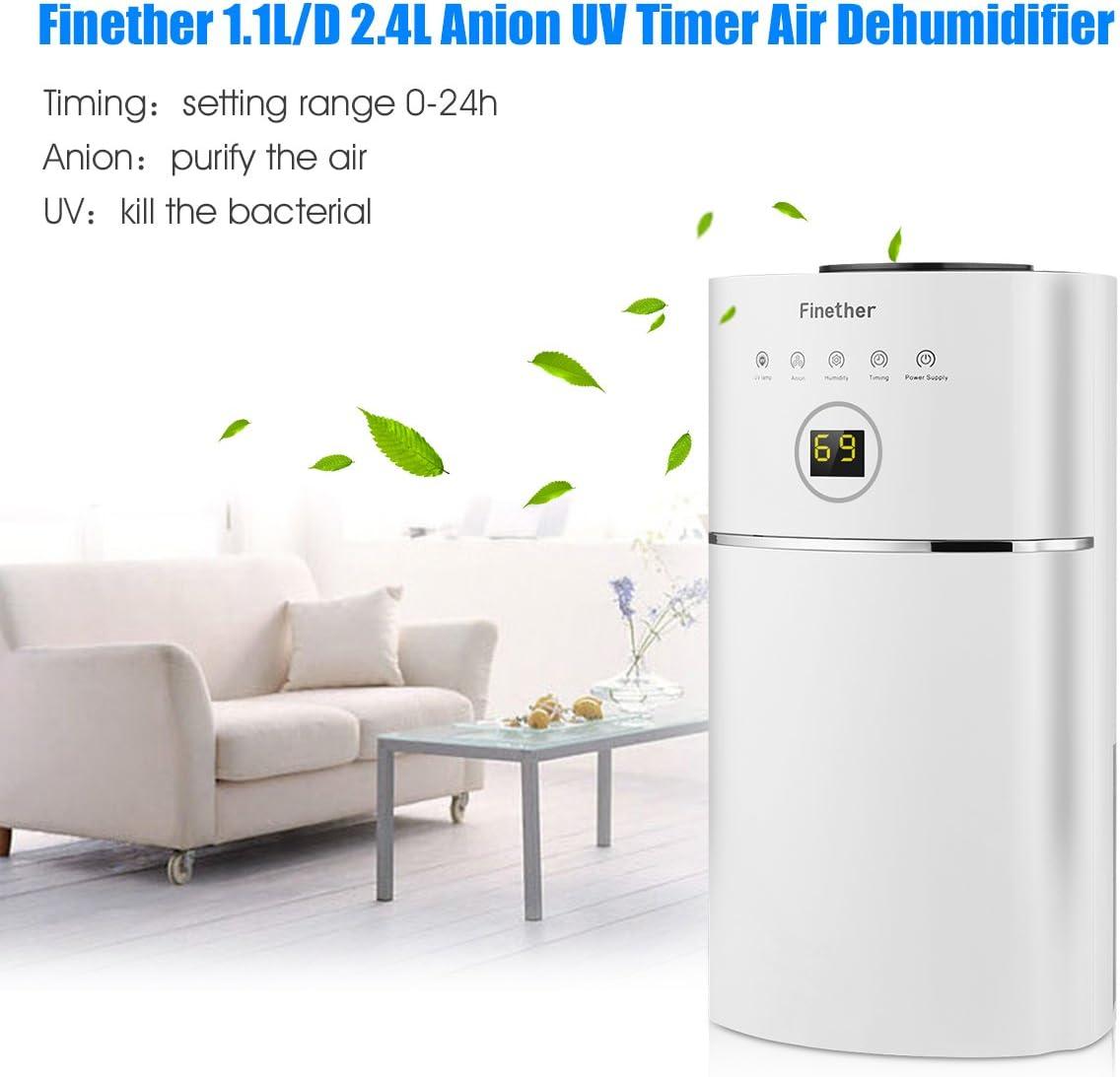 Finether-Deshumidificador de Humedad Digital , Purificador de Aire ...