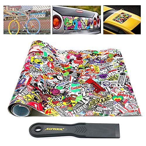 Vinyl JDM Cartoon Graffiti Car Sticker Bomb Wrap Sheet Decal to Personalize Laptops, Skateboards, Luggage, Cars, Bumpers, Bikes, Bicycles 60