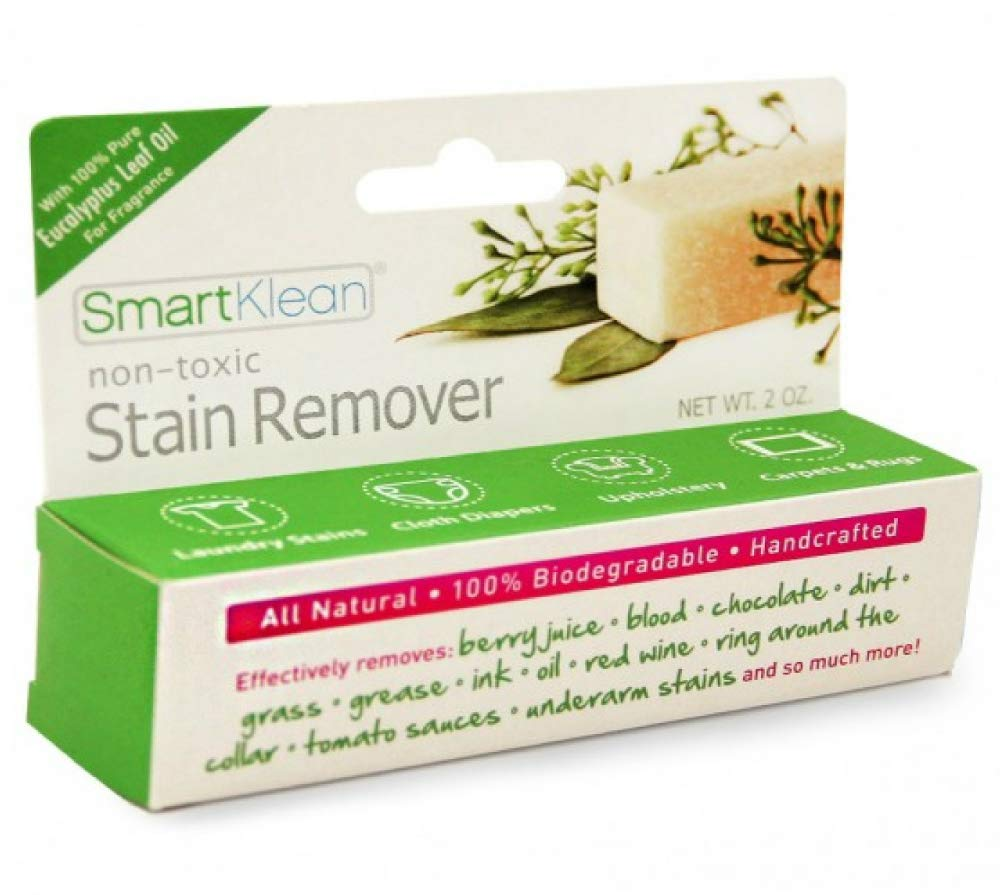 SmartKlean Non-Toxic Stain Remover Stick, 2oz | All Natural, 100% Biodegradable, Handcrafted