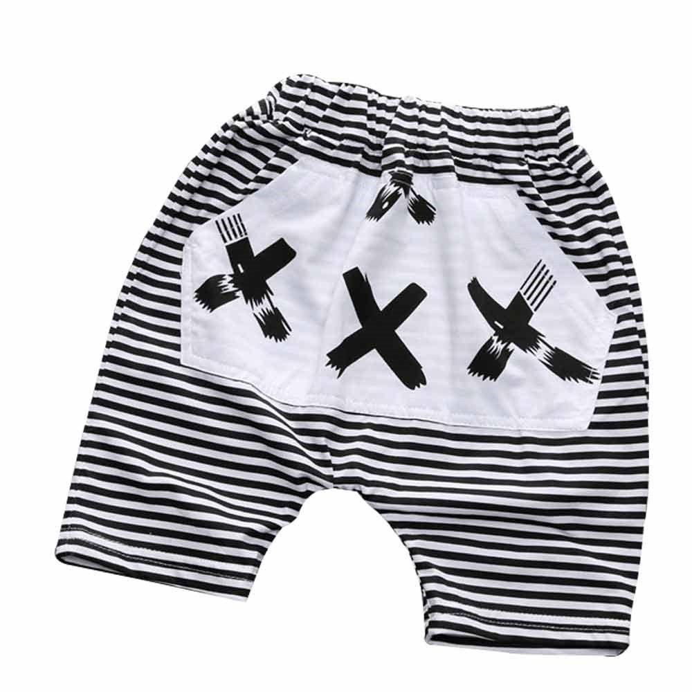 Kids Tales Baby Boys Girls Striped Elastic Waist Hot Bloomers Shorts