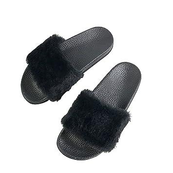 dbcb2dd0fdf BESTOYARD Pantoufle d intérieure Femme Sandale Chausson Femme confortable