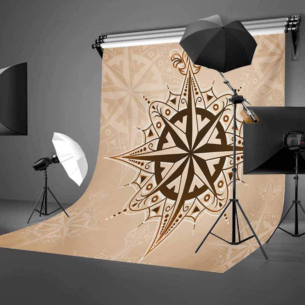6.5x10 FT Photography Backdrop Abstract Navigation Symbol Ancient Sailing Method Navigation Theme Print Background for Kid Baby Boy Girl Artistic Portrait Photo Shoot Studio Props Video Drape Vinyl