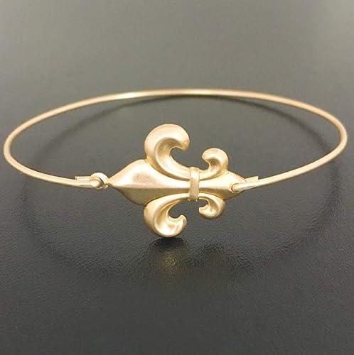 Amazon.com: Fleur de Lis Bracelet French Theme Jewelry New Orleans ...