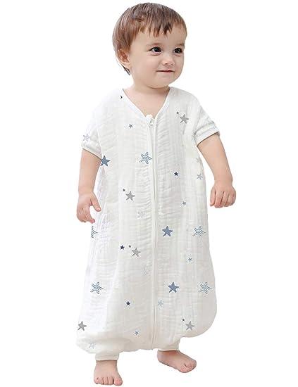 Amazon.com: Kisbaby - Saco de dormir para bebé (muselina, 1 ...