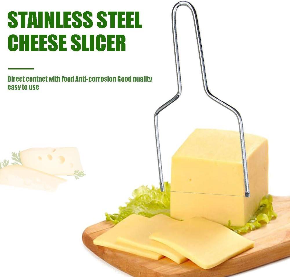 Ruluti Cuisine 1pc /éCologique Outil pour Le Beurre Anti-Corrosion pour Le Fromage Planche /à D/éCouper pour Le Foie Gras Fils en Acier Inoxydable Slicer