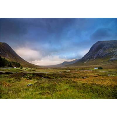 "Jigsaw Puzzles Scottish Highlands Scenery Scotland Landscape Stock Pictures Royalty for Kids Adults Educational Intellectual Game Gift Large Puzzle Toys DIY Challenge Indoor - 20""x30""(1000 Pieces): Toys & Games"