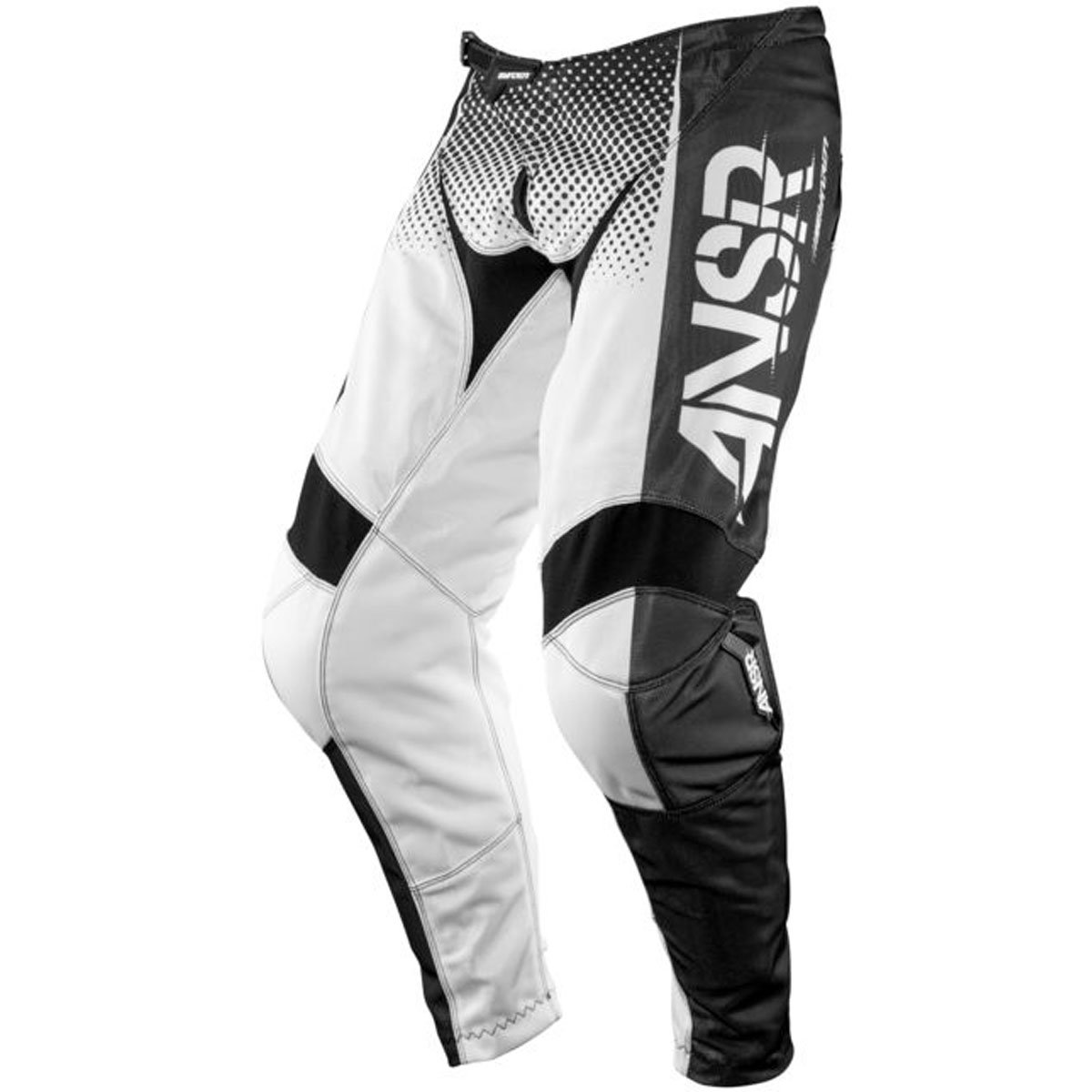 Answer Racing A17.5 Syncron Air Men's Off-Road Motorcycle Pants - Black/White / Size 34