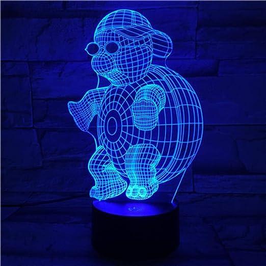 SHJDY Tortugas Ninja-Pequeña Luz Nocturna,7 Colores,Luz De ...