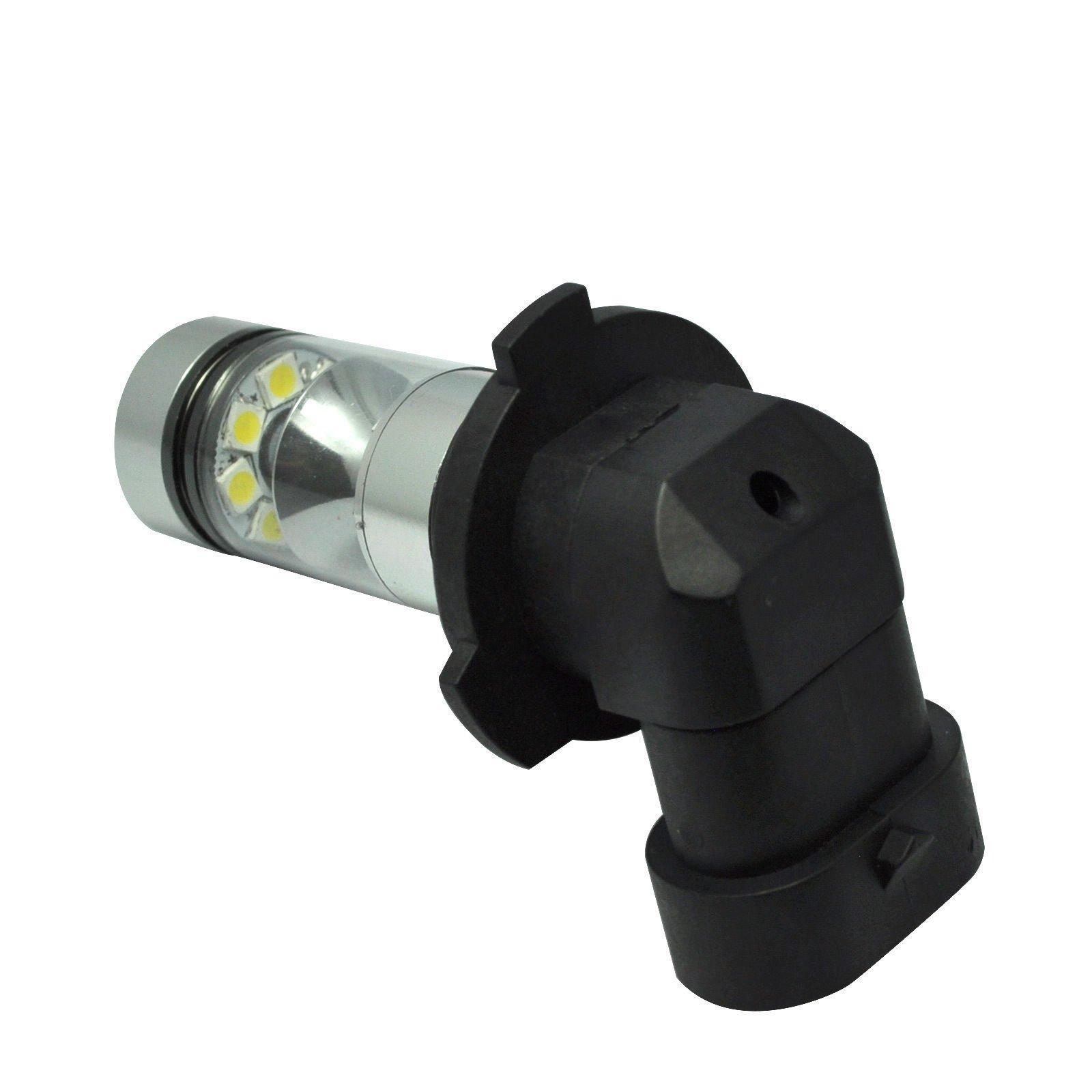 2 x 100W H10 9145 High Power CREE LED 6000K Super White Fog Light Lamp Bulbs by Carb Omar (Image #4)