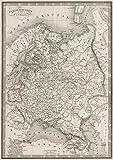 School Atlas   1839 Russie d'Europe.   Historic Antique Vintage Map Reprint
