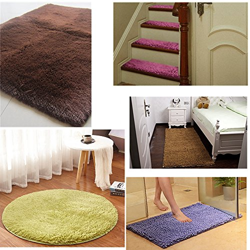 Yelanon Rug Grippers, 8pcs white Anti Curling Carpet Gripper, Renewable Washable Non Slip Tape Pad For Rug, Keeps Your Carpet Edges and Corners Flat, Strong Stickiness Without Hurting Floor by Yelanon (Image #7)