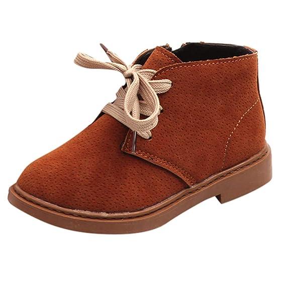 YanHoo Zapatos para niños Zapatillas de Deporte Niños Solteros para niños y niñas con Botas de Terciopelo para la Nieve Botas Gruesas Viento de Inglaterra ...