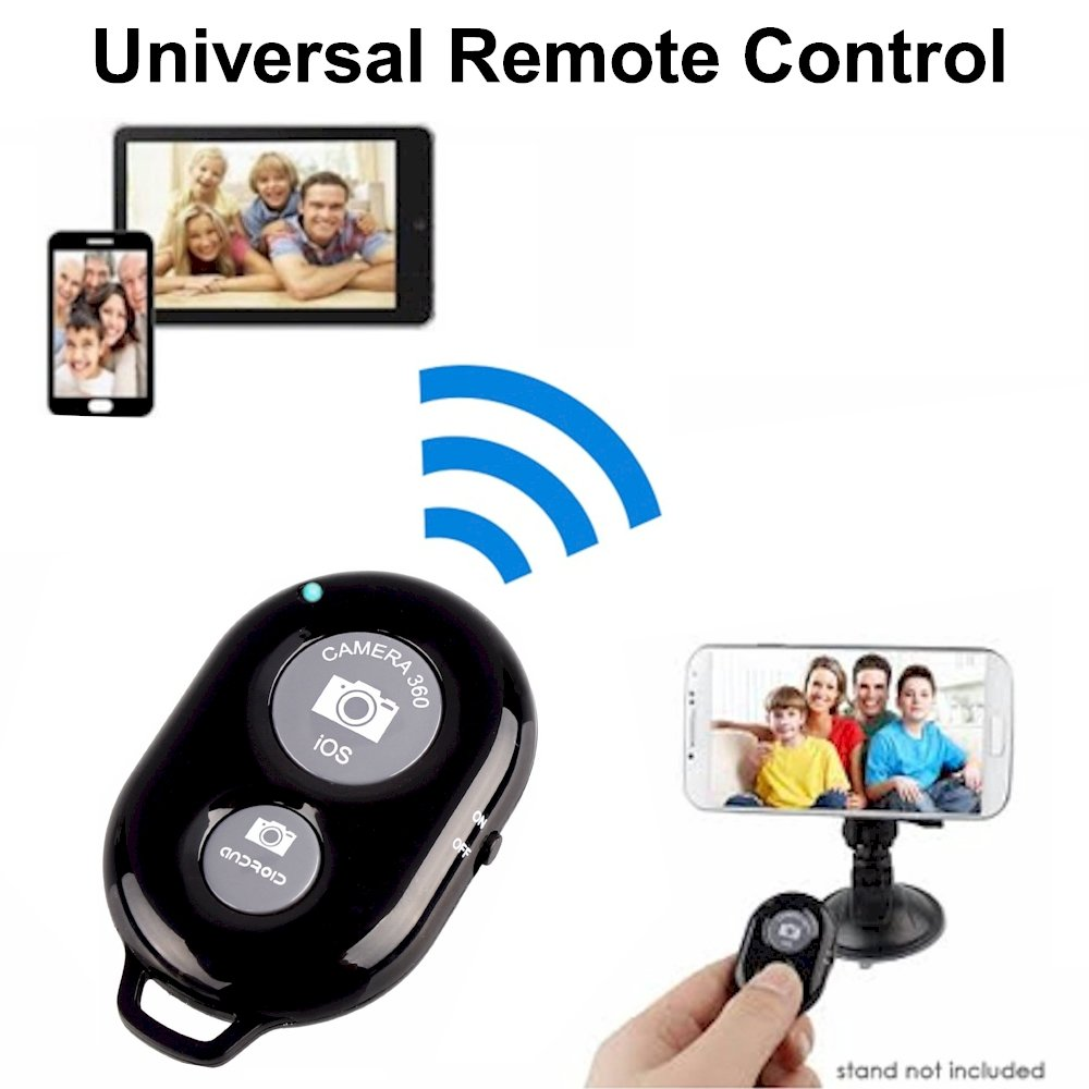 Smartphone Cell Phone Bluetooth Remote Control for iPhone 7, 7 plus, 6, 6 plus, 5s, 5c, 5, 4s, iPad, iPod, Samsung Galaxy S8, S7, S6, S5, S4, iOS, Android Wireless Universal Camera Shutter by DaVoice 4326571968