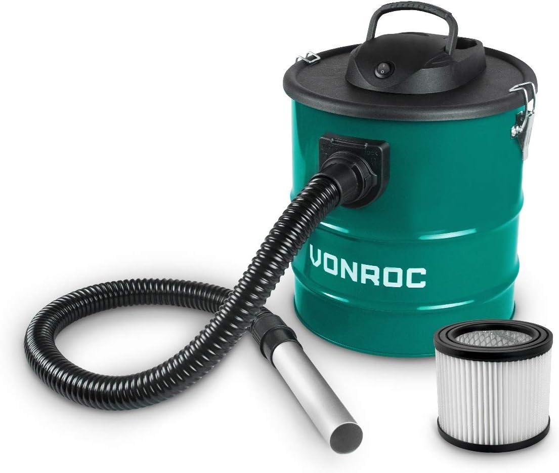 Aspirador de cenizas VONROC 1600W - Tanque de 20L - Cable de alimentación de 3m - Para chimenea, barbacoa y taller: Amazon.es: Bricolaje y herramientas