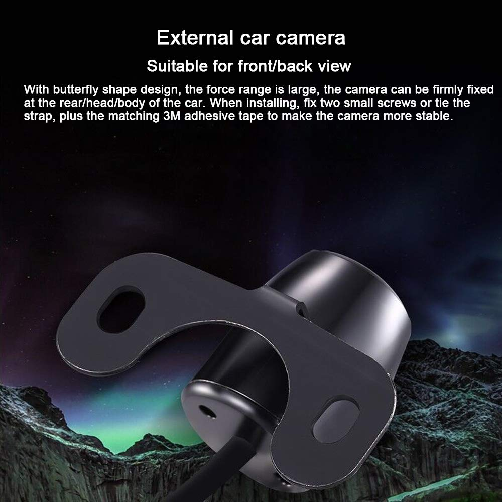 Car Backup Camera,Parking aid Universal Front Rear View Camera CCD Chip with Waterproof Night vison,170 Degree Visible Range Works Great with The Blind Spot NVGOTEV 5558990229