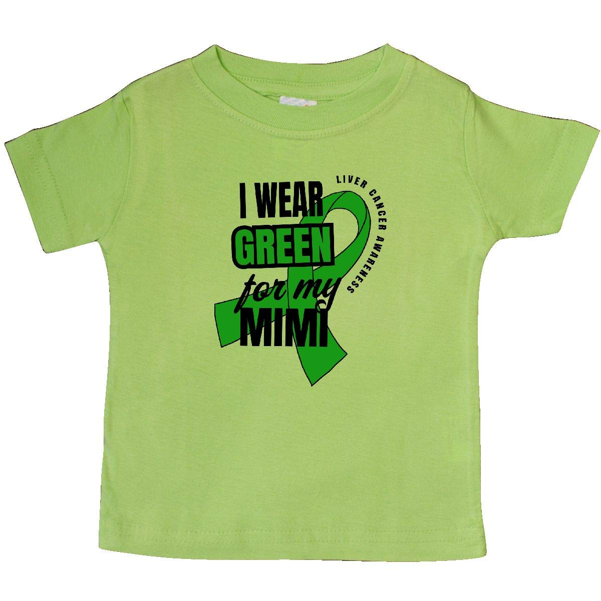 inktastic I Wear Green for My Mimi Liver Cancer Awareness Baby T-Shirt