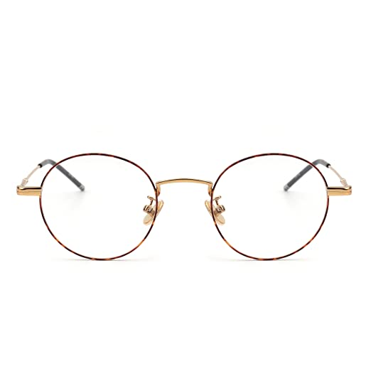 Amazon.com: Round Wire Rim Glasses Circle Frame Clear Lens ...